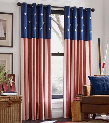 Kensington Home Americana Grommet Window Curtain *   Bon-Ton