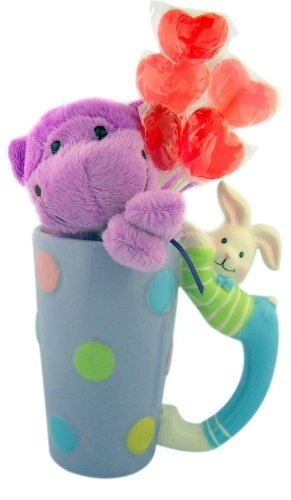242 best easter images on pinterest happy easter his or her easter gift 7 purple plush monkey with candy lolipop bouquet in pastel negle