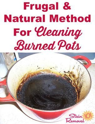 how to clean a pot that has burnt food