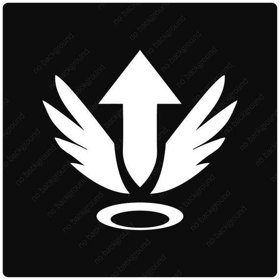 Mercy Overwatch Ultimate Rez Player Icon Logo Symbol