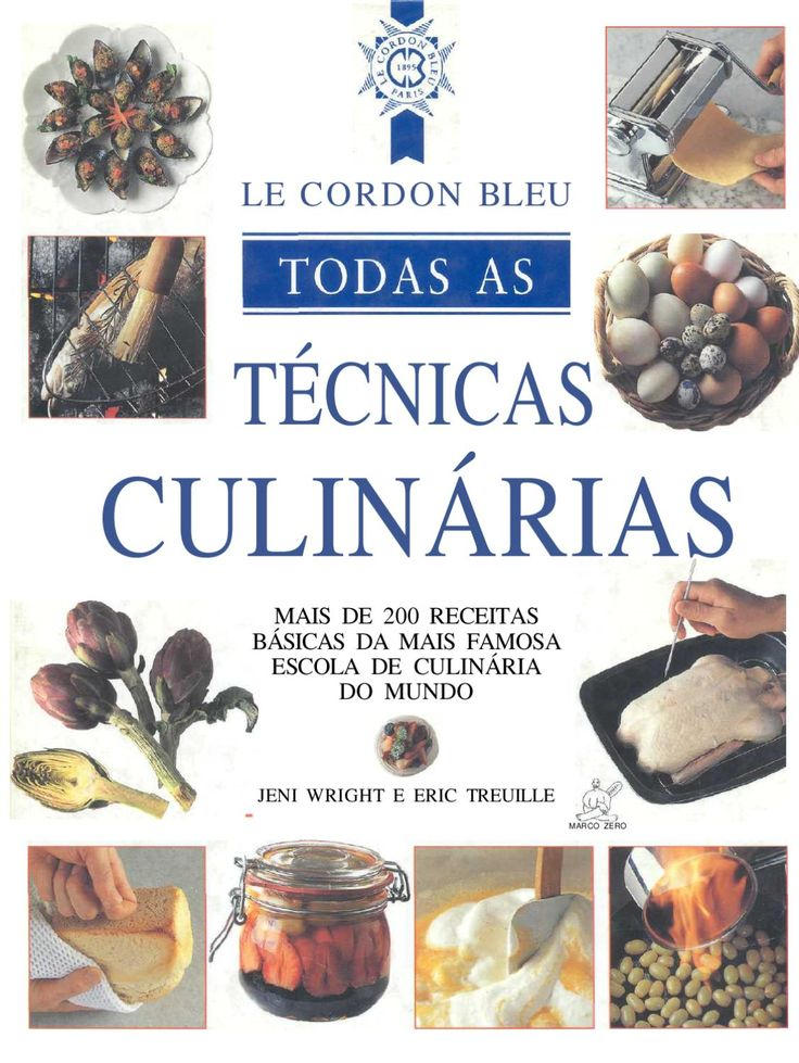 Todas las Tecnicas Culinarias  Libro de cocina en portugues de cordon bleu