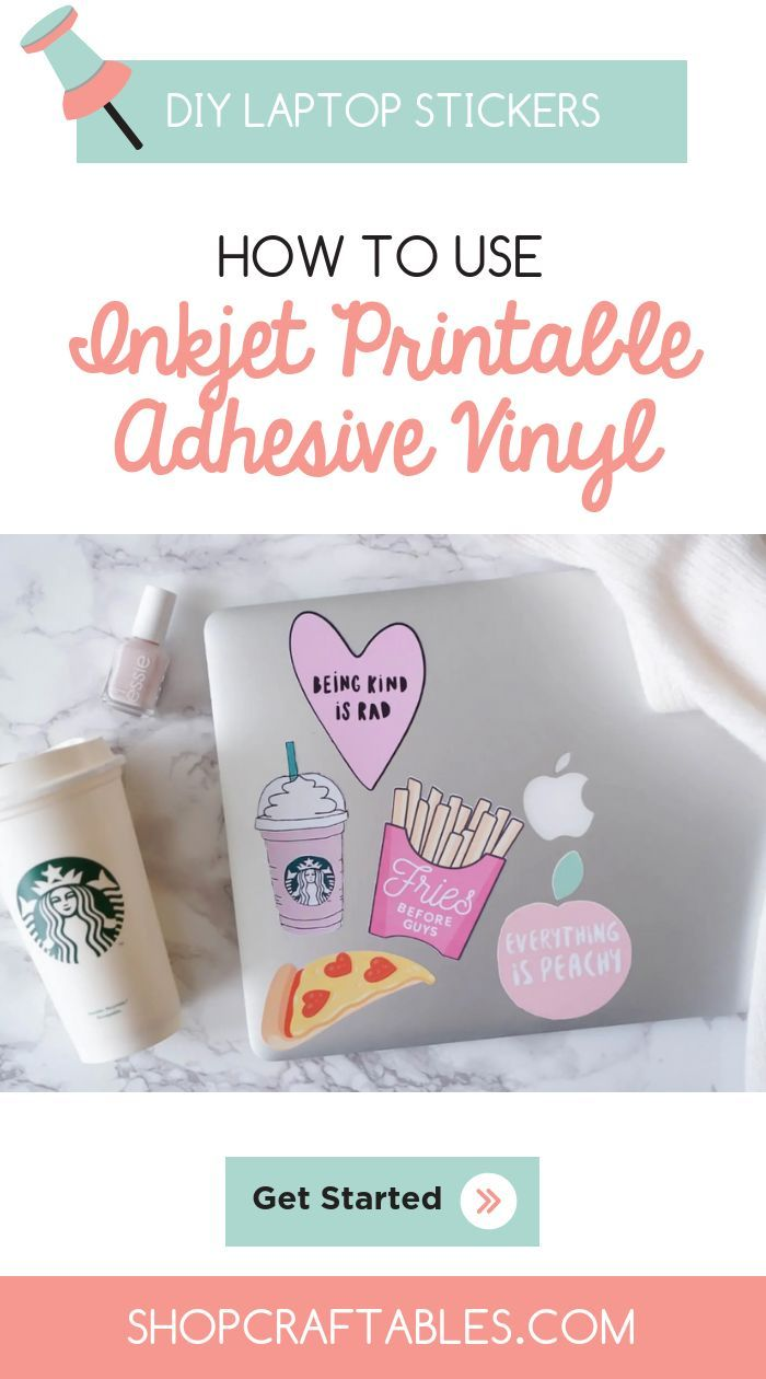 picture about Printable Adhesive Vinyl known as Do-it-yourself Computer system Stickers Information: How in direction of Retain the services of Inkjet Printable