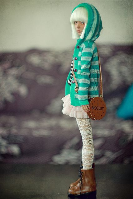 Licorice by *TatianaB* on Flickr.  Awesome outfit on this bjd