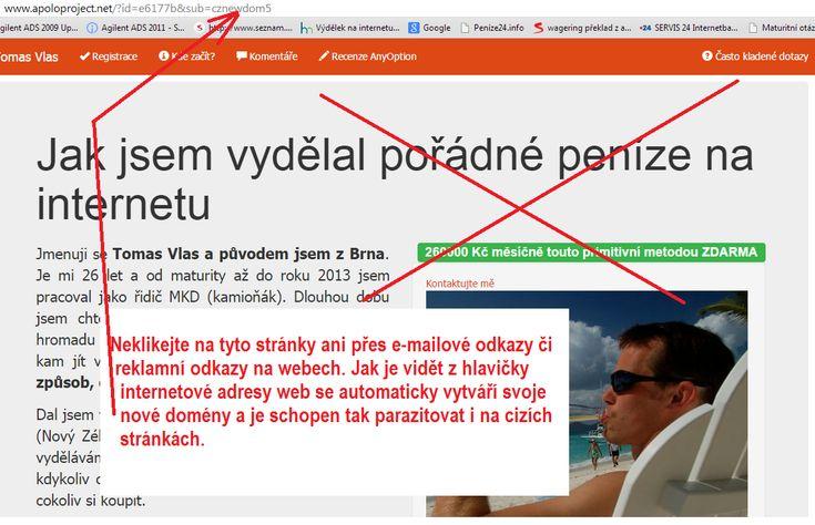 Várování před podvodnou reklamou Miroslav Kadlec. Kliknutí na reklamní odkazy a e-mailové přílohy může poškodit Vás počítač a nabourat Vaše citlivé údaje.