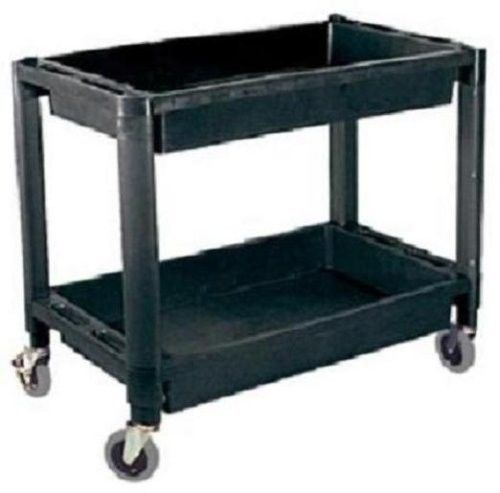 Plastic Utility Service Cart For Tools Parts With Two Shelves Auto Garage Shop #ATD