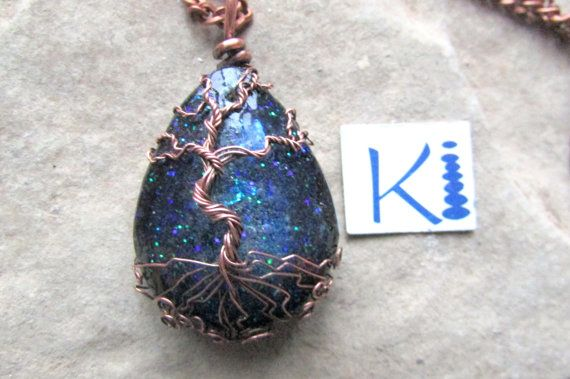 Celestial Orgone Pendant Tree of Life Copper by KiCrystalCreations