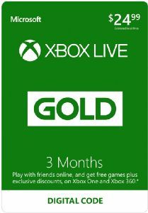 Xbox Live Gold 3 Months - Xbox One [Digital Download Add-On]