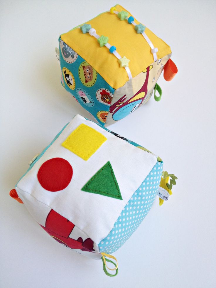 Fabric Baby Blocks, Taggie Cube, Sensory Toys, Soft fabric Block, Baby Cube, Toddler Cube, Montessori Toy by Germarhandmade on Etsy