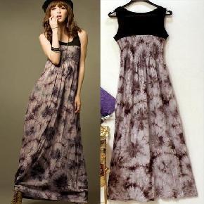 Purple Black Maxi Dress / Small-Medium