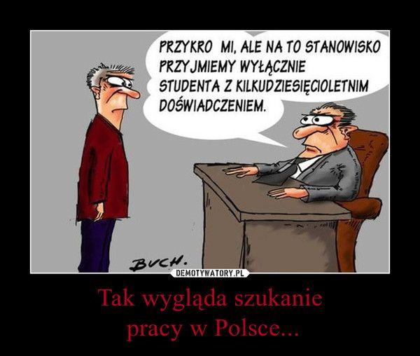 Tak wygląda szukanie  pracy w Polsce...