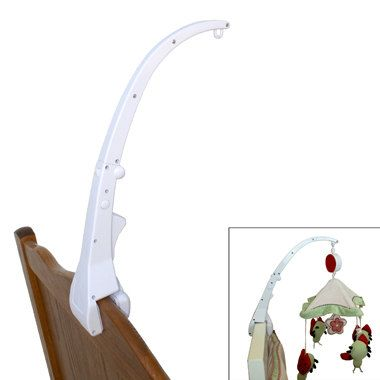 Crib Mobile Attachment Arm - Clamps to Crib for Baby