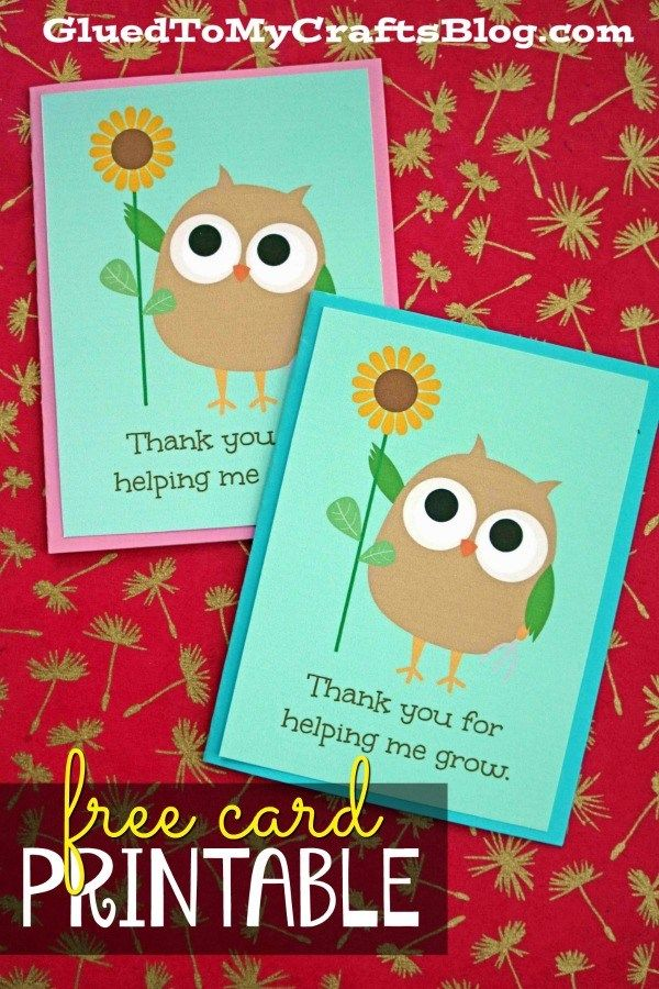 Thanks For Helping Me Grow Card For Mothers Teachers And More Teacher Thank You Cards Teacher Appreciation Cards Thank U Cards