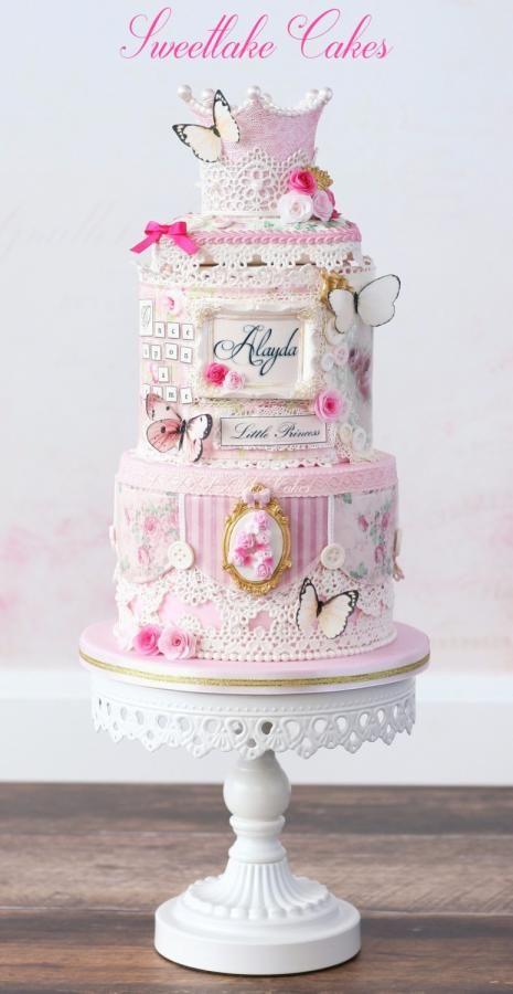 Vintage romantic princess cake by Tamara