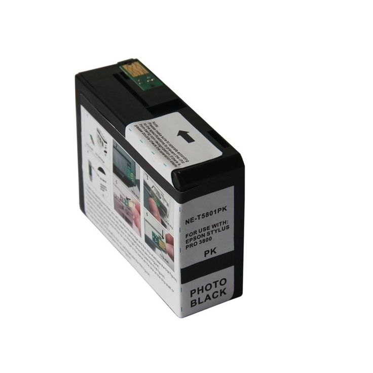 Insten Remanufactured Ink Cartridge for Epson T5801PBK, #1319708