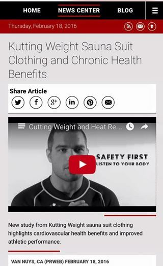 """Kutting Weight Suana Suit Clothing and Chronic Health Benefits"" Check out our latest press release at: http://www.prweb.com/releas…/Kutting/Weight/prweb13189681.ht"