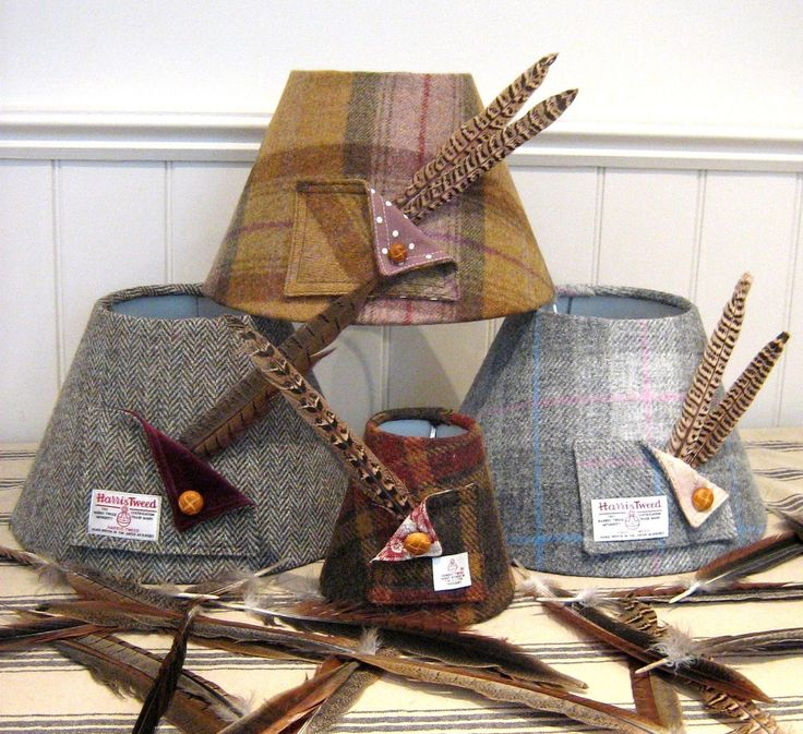 Harris Tweed Lampshade- Medium- 30cm | eBay