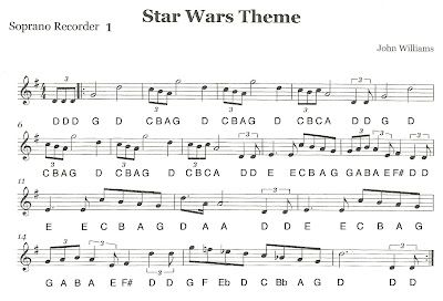 "Third Street Music: Recorder Ensemble - ""Star Wars"" First Recorder Part 1"
