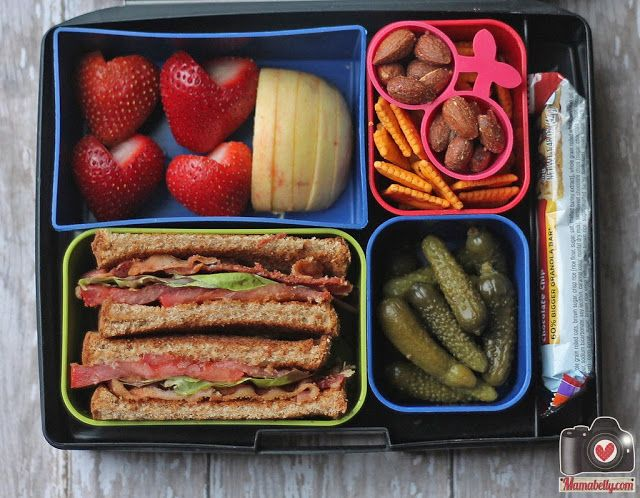 BLT school lunch sandwich in our Laptop Lunches lunchbox - www.mamabelly.com