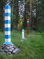 Boundary marks on a border of #Finland and #Russia. This is FINLAND article on the border.