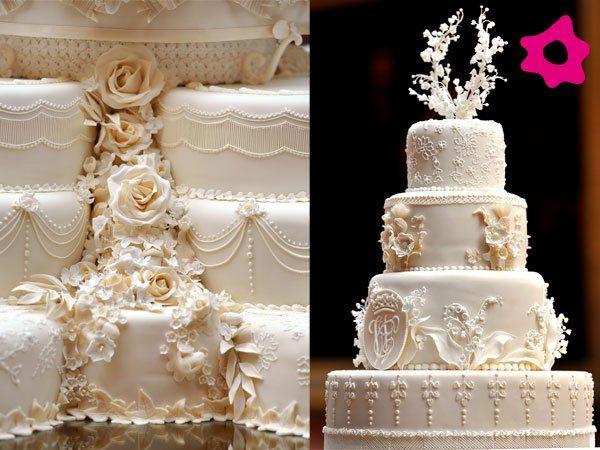 Decoração do bolo de casamento de Príncipe William e Kate Middleton