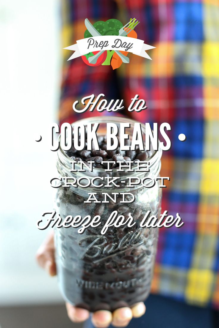 A step-by-step tutorial explaining how to cook beans in the crock-pot and freeze them for later! Lots of healthy, budget-friendly ideas.