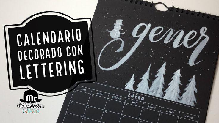 Calendario decorado con lettering gener - enero