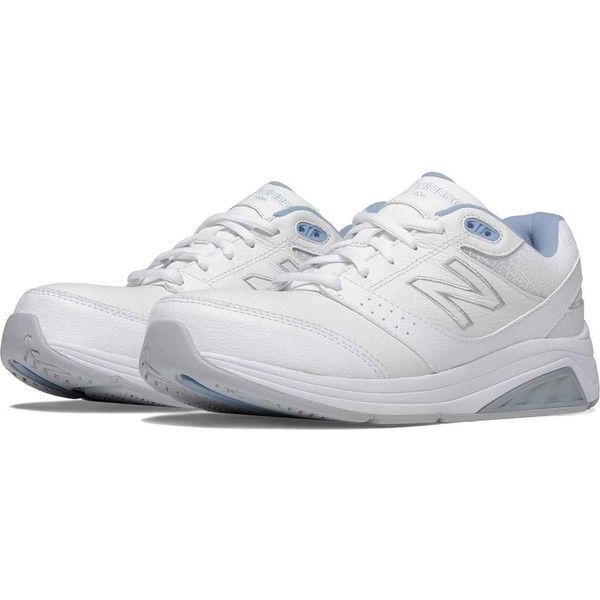 New Balance Women's 928v2 Leather White Walking Shoes ($120) ❤ liked on Polyvore featuring shoes, athletic shoes, white, new balance, new balance athletic shoes, white athletic shoes, leather athletic shoes and leather footwear