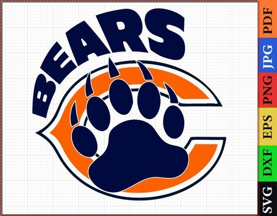 Chicago Bears Svg Football Logos Vector Layered Files Cricut Scrapbook Chicago Bears Nfl Be Chicago Bears Logo Football Logo Heat Transfer Vinyl Projects