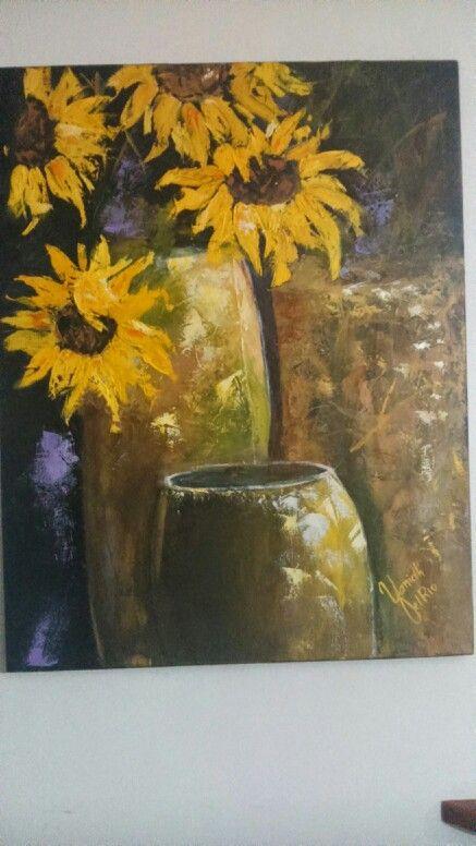 Declive, cuadro en oleo sobre lienzo, trabajado con espátula.