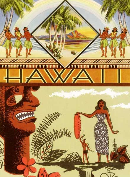 Hawaii Hula Tiki Art
