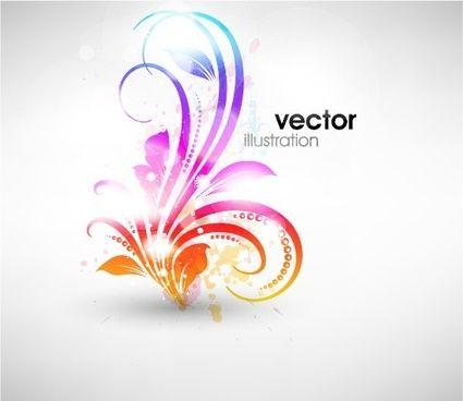 set of floral ornament vector illustration
