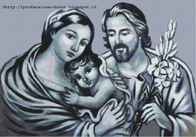 Professione Donna: Schema a punto croce: Sacra Famiglia_14