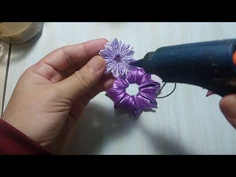 Tutorial Bunga Kanzashi - YouTube