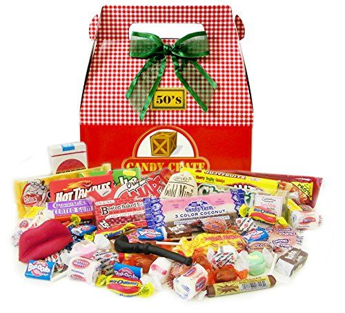 1950's Holiday Retro Candy Gift Box - http://www.specialdaysgift.com/1950s-holiday-retro-candy-gift-box/