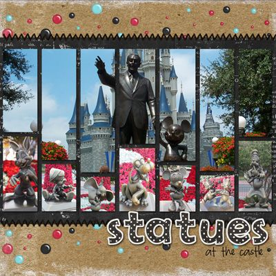 Disney World statues layout. (wish I could find the name of the person who created this one to credit them)