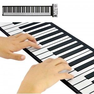 Practice your piano skills or your children's skills anywhere, anytime, time with this Flexible Roll Up Synthesizer Keyboard Piano. Compact with many added functions, this keyboard Piano will go with you anywhere, anytime! These keys are designed using Silicon rubber, which allows you to neatly fold it away and store in your cupboard without damage. You can store it in your bag or rucksack and take it with you to the beach, friend's house or the park to practice.