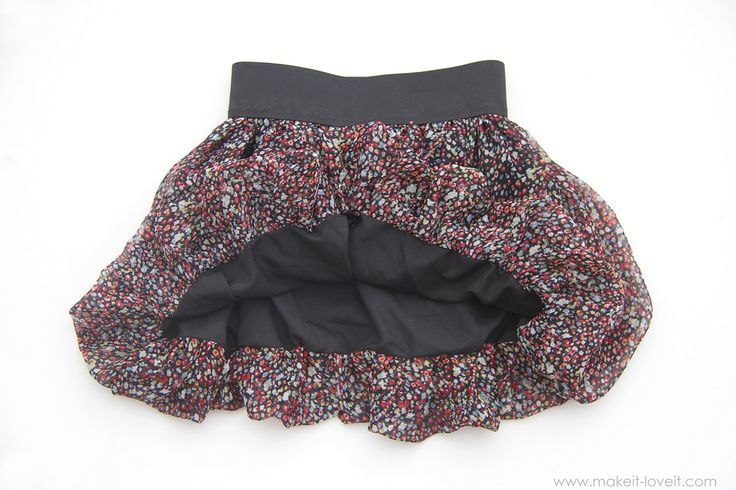 DIY Bubble Skirt with Elastic Waist...for girls and women both! --- Make It and Love It