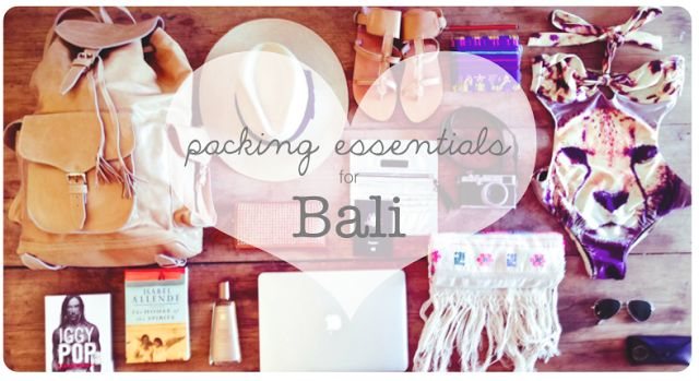packing essentials for Bali, what to pack, packing list Bali