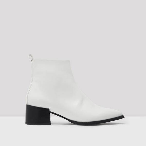Elin White Florentique Boots | Boots, Online shopping shoes