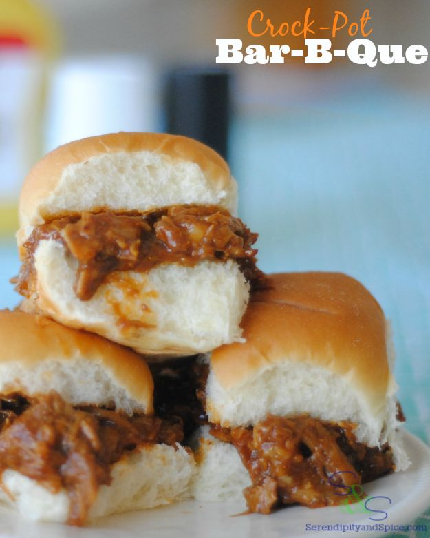 Sweet Hawaiian Crock Pot Barbeque Pork Sandwiches - a delicious and simple recipe the whole family will love.