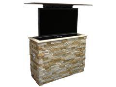 MirageVision Outdoor TV Lift Rock Veneer
