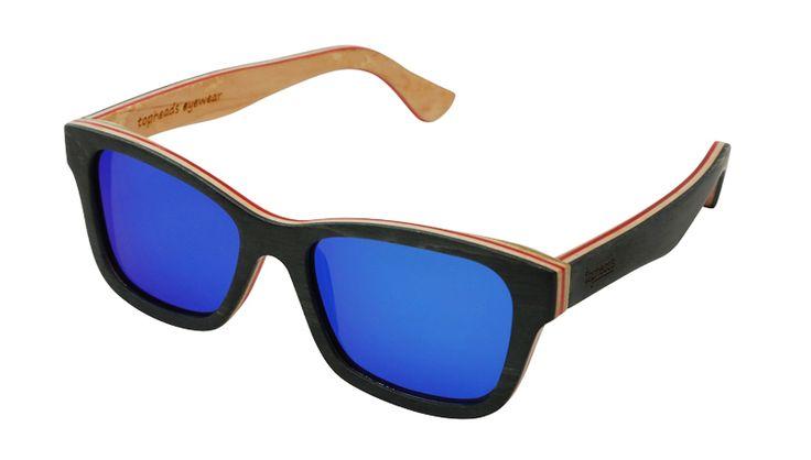 The 'Bennie' | Skate Shades | Topheads www.topheads.com.au #topheads #bondi #beach #summer #surf #Skateboarding #skate #shades #wood #maple #bamboo #sunnies #sunglasses #australia #fashion