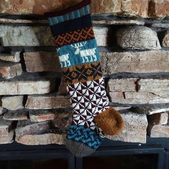 Personalized Christmas Stocking Knit Christmas Stocking