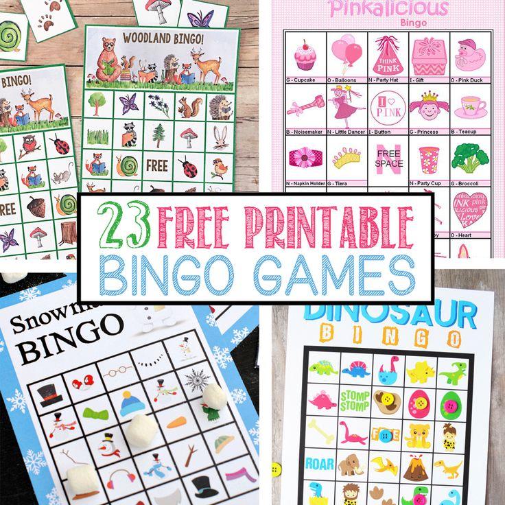 23 Free Printable Bingo Games Bingo printable, Printable