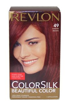 colorsilk Beautiful Color #49 Auburn Brown Revlon 1 Application Hair Color Unisex