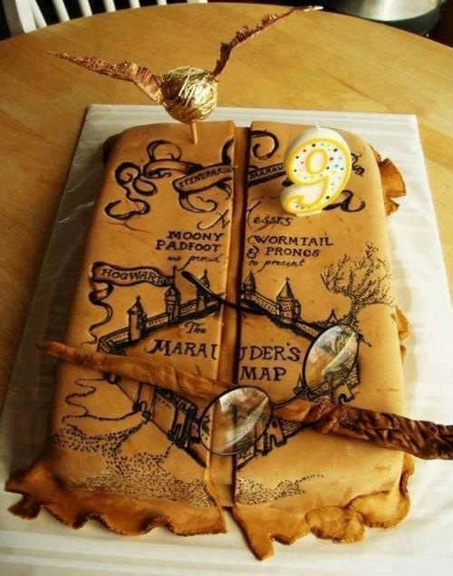 Harry Potter Marauder's Map cake- I solemnly swear that I am up to no good. i am probably more obsessed with the Marauders Era than with anything else. and when i say probably i mean definitely.