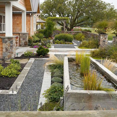 Mid century modern small front yard lawn alternatives for Modern yard ideas