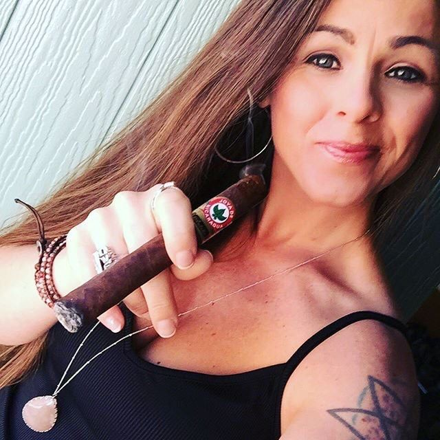 cigar smoking naked