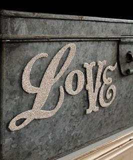 A Creative Space: Glittery Chipboard Letters and a Giggle~
