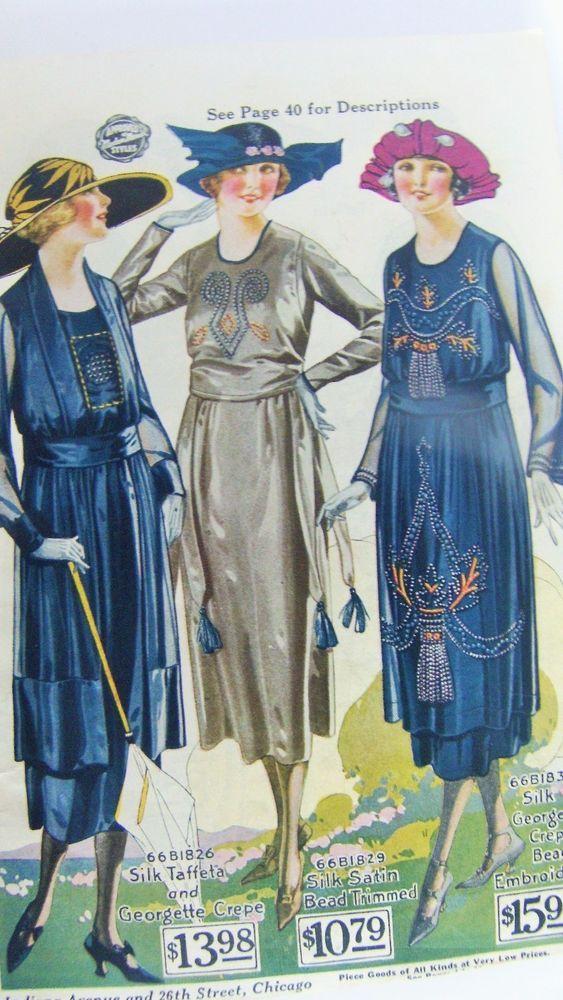 1920's CLOTHING CATALOG FLAPPER GATSBY ART DECO DRESSES HATS SHOES WOMEN MEN CHI | Books, Catalogs, Clothing & Fashion | eBay!